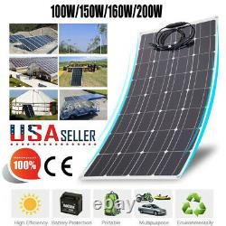 100-160W Flexible Solar Power Panel Module Battery Charging For Off Grid RV Boat