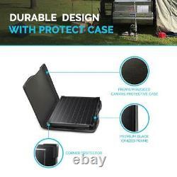 100-Watt 12-Volt Monocrystalline Foldable Suitcase Off-Grid Solar Power Kit
