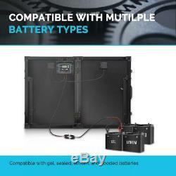 100-Watt 12-Volt Monocrystalline Foldable Suitcase Off-Grid Solar Power Kit With