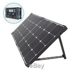 100-Watt Eclipse Monocrystalline Portable Suitcase Off-Grid Solar Power Kit NEW