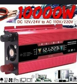 10000W 220V Solar Power Inverter Off Grid Converter 12V Transformer Automatic 1