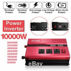 10000W Solar Power Inverter Off Grid Modified Sine Wave Converter DC24V to 220V