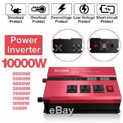 10000W Solar Power Inverter Off Grid Modified Sine Wave Converter DC24V to 220Vh