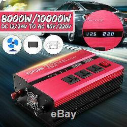 10000W Solar Power Inverter Off Grid Pure Sine Wave Converter 12V/24V to AC 220m