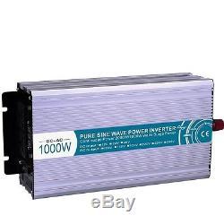 1000W DC12V to AC110V Pure Sine Wave Off Grid Solar Power Inverter LED Display