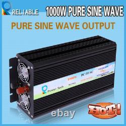 1000W Power Pure Sine Wave Inverter 12V 110V 120V Off Grid Solar System Home RV