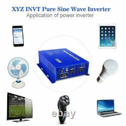 1000W Pure Sine Wave Power Inverter 12V dc to 110v 120v ac Solar Off Grid