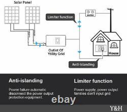 1000W Solar Grid Tie Inverter with Power Limiter Sensor DC45-90V, AC110/220V Auto