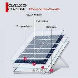 1000W Solar Panel System Power Generator Grid Inverter Kit 50A Fast Shipping