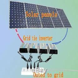 1000W Solar Power Inverter Grid Tie Pure Sine Wave 110V 10.5-30v DC