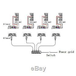 1000W Solar Power Inverter Grid Tie Pure Sine Wave 110V MPPT Energy Watt Meter