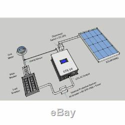 1000W Solar Power on Grid Tie Inverter & Limiter DC 22-65V/45-95V PV or Battery
