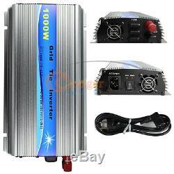 1000W Watt Solar Micro Grid Tie Power Inverter for Solar Panel 20-45V AC