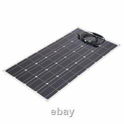 100W Solar Power Module Solar Panel 18V Battery Charging For Off Grid RV Boat AN