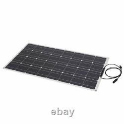 100W Solar Power Module Solar Panel 18V Battery Charging For Off Grid RV Boat US