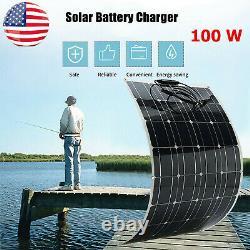 100W Solar Power Module Solar Panel 18V Battery Charging RV Boat Off Grid BS