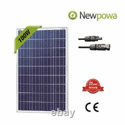 100W Watts Solar Panel 12V Volt Poly Off Grid Battery Charge RV