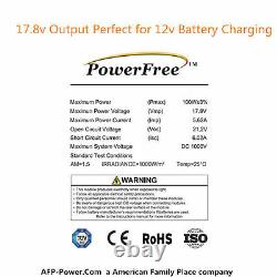 100w 100 Watt Mono Solar Panel Charging Charger Kit for12v Off Grid Battery