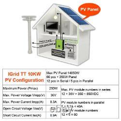 10KW Solar Inverter 48V 380V Grid Bond Inverter 3 Phase On Grid Off Grid Inverte