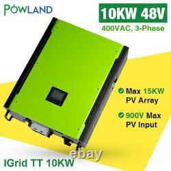 10KW Solar Inverter 48V 380V Grid Tie 3-Phase with Max Solar Power 14850W 900VDC