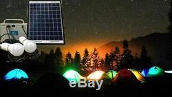 10W Portable off-grid Solar Power System Charger Camping Fishing LED Lamp lights