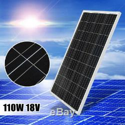 110W 18V Poly Solar Panel Module Off Grid Battery Charger For 12V RV Boat Car