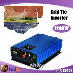 1200W Solar Grid Tie Micro Inverter Solar Power MPPT Charger Waterproof AC 110V