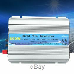 120V 600W Grid Tie Pure Sine Wave Household Solar Power Inverter 22-60V US Plug