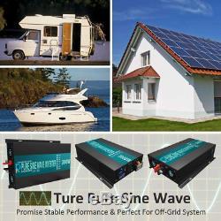 12V 120V DC AC Reliable 3000W Pure Sine Wave Solar Power Inverter Off Grid