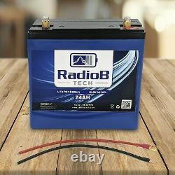 12V 24AH Lifepo4 Lithium Deep Cycle Battery RV Marine Solar Off-Grid Power Wheel