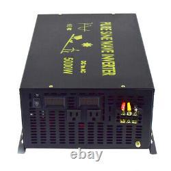 12V/24V/48V DC to 220V/240V AC 50HZ 5000W Off Grid Pure Sine Wave Power Inverter
