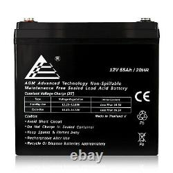 12V 55Ah Rechargeable SLA AGM Battery for Wind, Solar, and Off Grid Power
