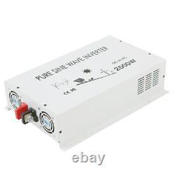 12V to 120V Pure Sine Wave Inverter 2000W Power Inverter Off Grid Car Camp Solar