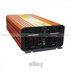 1500W 12V-110V MPPT Solar Power Inverter Pure Sine Wave for Home Off Grid System