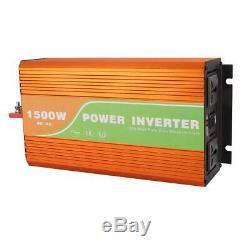 1500W Peak Solar Power Inverter Grid Pure Sine Wave 12/24/48V DC to 110V/220V AC