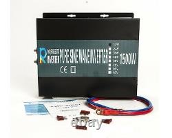 1500W Pure Sine Wave Power Inverter 36V to 120V Converter Solar Home RV Off Grid