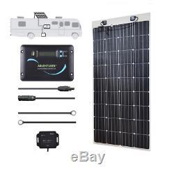 160-Watt 12-Volt Monocrystalline Rv Off-Grid Solar Power Kit