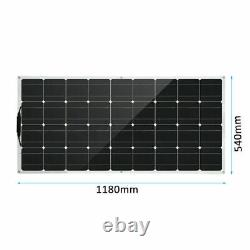 160W Solar Power Panel Monocrystalline Silicon Battery Charger For Off Grid Ul