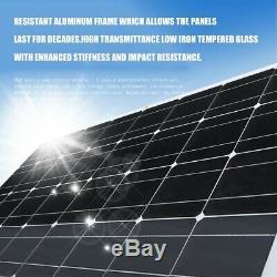 170W 12V Solar Panel MoncrystallineOff Grid PV Solar Powered Car Boat Home RV oX