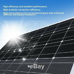 2 X 100W 12V Mono Solar Panel 200 Watt 200W 24V RV Boat Off Grid Solar Power EK