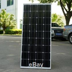 2 X 100W 12V Mono Solar Panel 200 Watt 200W 24V RV Boat Off Grid Solar Power TO