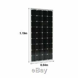 2 X 100W 12V Mono Solar Panel 200 Watt 24V RV Boat Off Grid Solar Power MA