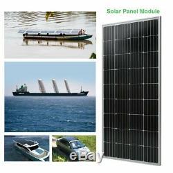 2 X 100W 12V Mono Solar Panel 200 Watt 24V RV Boat Off Grid Solar Power UR