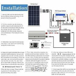 2 X 100W 12V Mono Solar Panel 200 Watt 24V RV Boat Off Grid Solar Power US