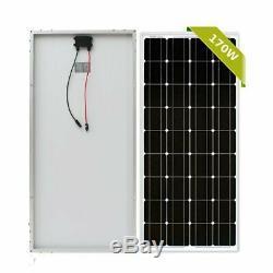 2 X 170W 12V Mono Solar Panel 340 Watt 340W 24V RV Boat Off Grid Solar Power TO
