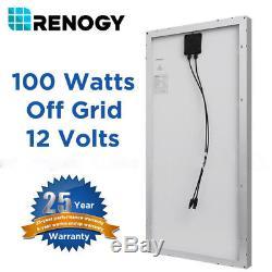 2 X Renogy 100W 12V Mono Solar Panel 200 Watt 200W Off Grid PV Power RV