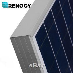 2 X Renogy 100W 12V Poly Solar Panel 200 Watt 200W 24V RV Boat Off Grid PV Power