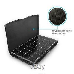 200-Watt Eclipse Monocrystalline Portable Suitcase Off-Grid Solar Power Kit With