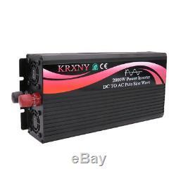 2000 Watt Off Grid Pure Sine Wave Solar Power Inverter 72V DC to 110V 220V AC