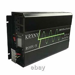 2000W 24V DC to 120V AC 60HZ Pure Sine Wave Off Grid Home Solar Power
